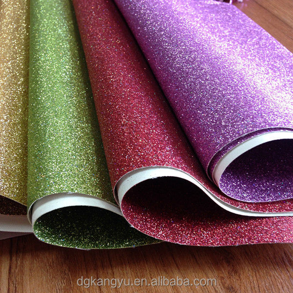 best quality pu synthetic leather for shoes glitter wallpaper raw material