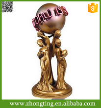 Creative modern home decoration ceramic the world is yours statue full size