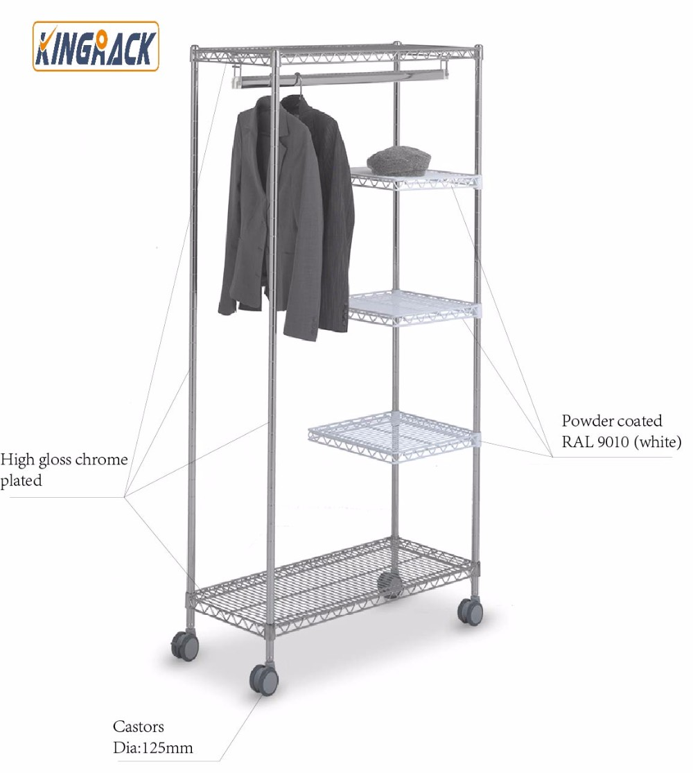 NSF approval chrome plated clothes wire rack & Wire Racking Manufacturer Clothes Hanger rack