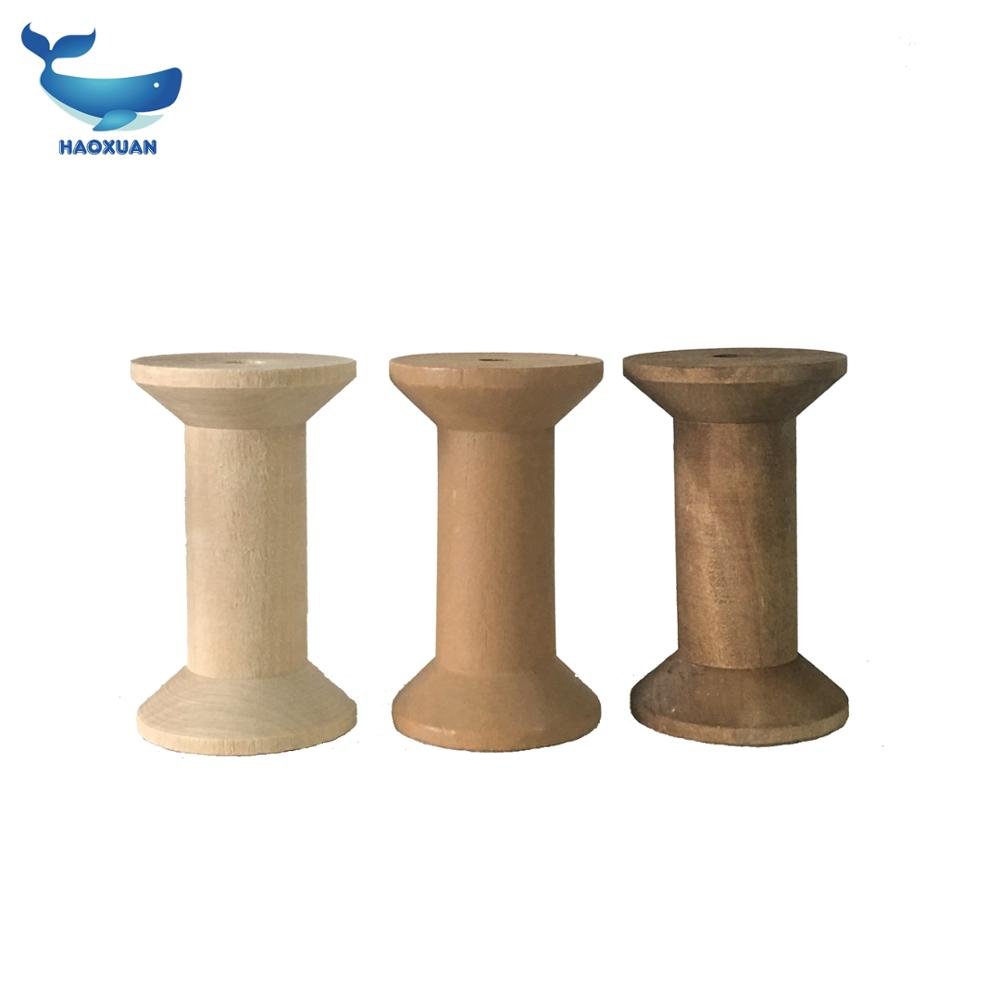High Quality Large 9cm Plain <strong>Wood</strong> Spool Bobbin Thread Variety Size Wooden Bobbin