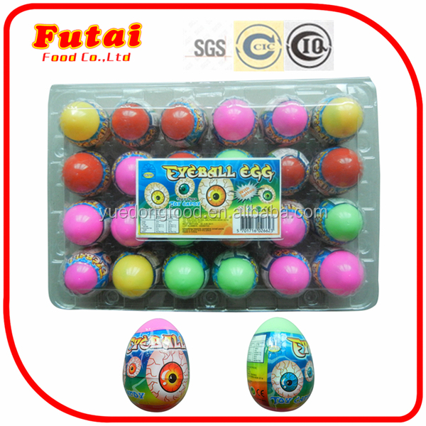 10g Egg toy eyeball sweets candy