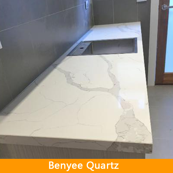 Custom solid surface prefabricated quartz countertops