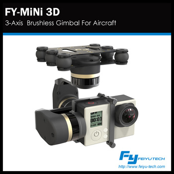 feiyu FY-MINI 3D 3-Axis Brushless Gimbal/3 Axis stabilizer suitable for drone helicopter aircraft for gopro