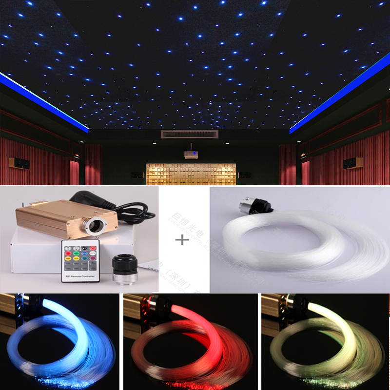Cinema fiber optic twinkle starry sky star ceiling light kits 500 points x 3.5 meter 0.75mm
