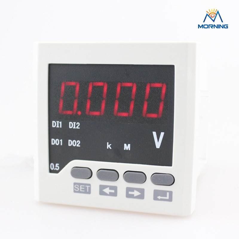 DV61 panel size 72*72mm single phase DC 4 LED digitals one line display meter volt, electrical instrument for voltage measuring