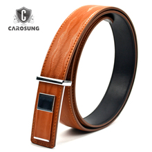 Wholesales Price Plate Buckle Spiral Pattern Split Leather Male's Belt