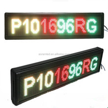 moving message taxi top led display billboard color moving message led billboard/led sings China/single color display board