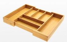 Wooden&bamboo Expandable Flatware and Drawer Organiser metal desk accessories