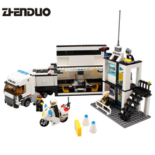 Zhenduo KAZI 6727 Police Station Building Blocks Bricks Educational Toys Compatible with all city Birthday Gift Toy Brinquedos