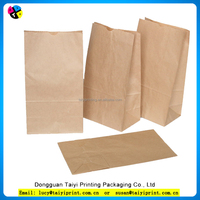 New product plain recycled without handle craft strong brown Kraft paper bags grocery bags