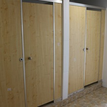 Factory direct supply 12mm waterproof and fireproof indoor wood grain phenol resin laminate HPL compact board toilet partition