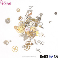 pinpai brand beautiful time gear nail art decoration mixed wheel finger 3d alloy metal nail sticker