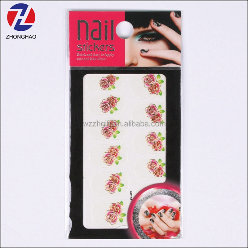 High quality unique latest nail art sticker printing