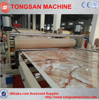 PVC stone plastic profile extrusion machinery/pvc artifical marble sheet production line