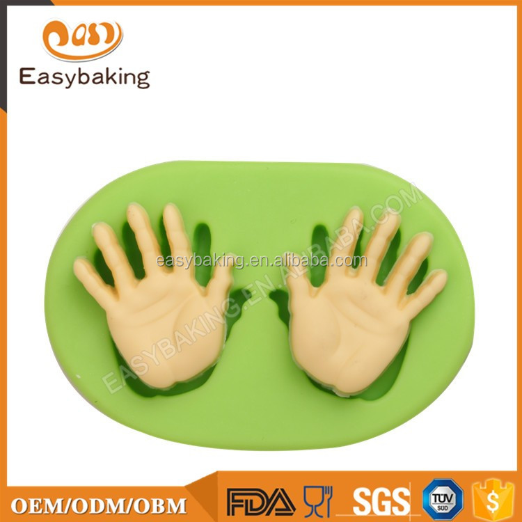 Wholesale Popular Hands Shape Silicone Cake Mold