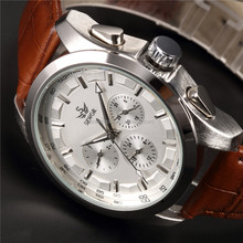 Elegant Design Men's Six-hand Mechanical Date and Day Display Wrist Watch