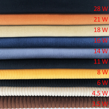 100% cotton 8 wide wale corduroy woven dyed fabric wholesale for pants