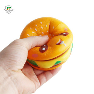 2018 wholesale cheap pu foam stress release kawaii squeeze squishies slow rising hamburger toys