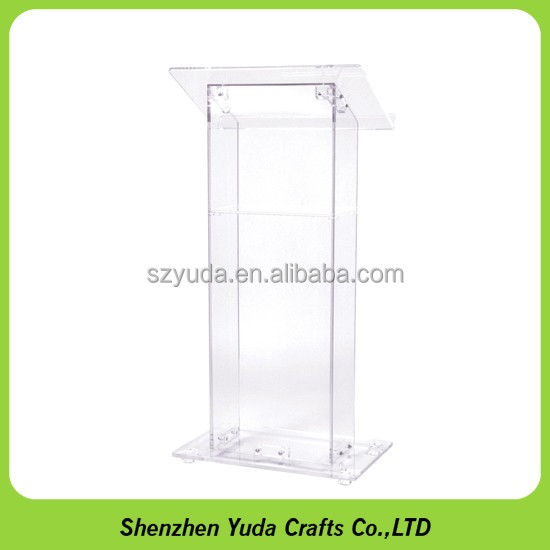 Transparent acrylic speeches table clear plastic podium for lecture