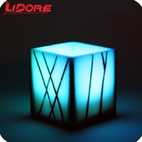 LIDORE Paraffin wax bule flameless dancing flame moving wick Pattern home decor led candle light