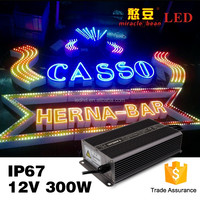Top quality Switching 12V 24V power supply IP67 300w waterproof electronic led drive