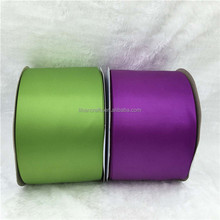 Wholesale 100% Polyester 4 inch Double Face Ribbon Satin, Double Side Satin Ribbon