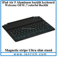 LBK143 Backlit Bluetooth Keyboard Tablet Bluetooth Keyboard With Back Light Wireless Keyboard Case for ipad air 5
