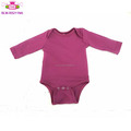 USA Apparel 100 Cotton Material blank infant OEM romper long sleeve plain Rompers wine infant baby romper blank
