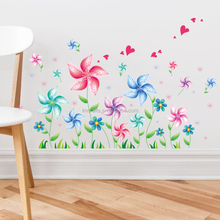ll removableWall stickers creative cartoon wall stickers flowers wholesale windmi XL6040 waterproof