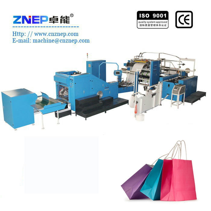 ZD-450Q Fully Automatic Shopping Bag Master Paper Bag Making Machine