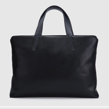 fashion leather briefcase man work tote bag man leisure bag