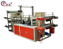 computer control C-folding trash bag plastic garbage bag on roll bag making machine