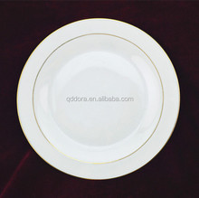 white plates with gold trim ,white ceramic plate with gold edge