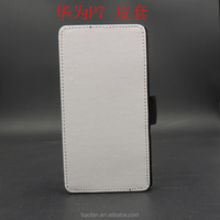 High quality Sublimation leather flip phone case For Huawei P7