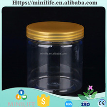 Clear Plastic PET Candy Herb Jar Containers, Plastic Bottle, Transparent Food Sealed Cans
