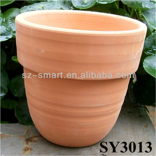 Round mini terracotta flower pot wholesale