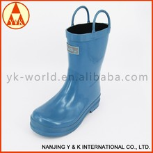 Fashion Print Sexy kids blue wellington rain boots