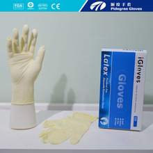 Good elasticity disposable latex examination gloves Malaysia