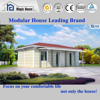 finished prefab house luxury container house mobile restaurant/Prefab homes light steel frame structure house