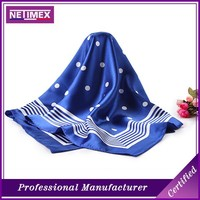 fashionable personalized excellent silk scarf made of the 100% pure silk/handprinting Scarf