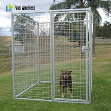 Galvanized chain link breeding dog cage / dog kennel for sale