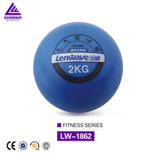 Lenwave brand high quality blue pvc sand filled soft weight ball