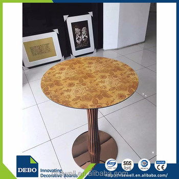 Chinese products wholesale laminate round top dining table