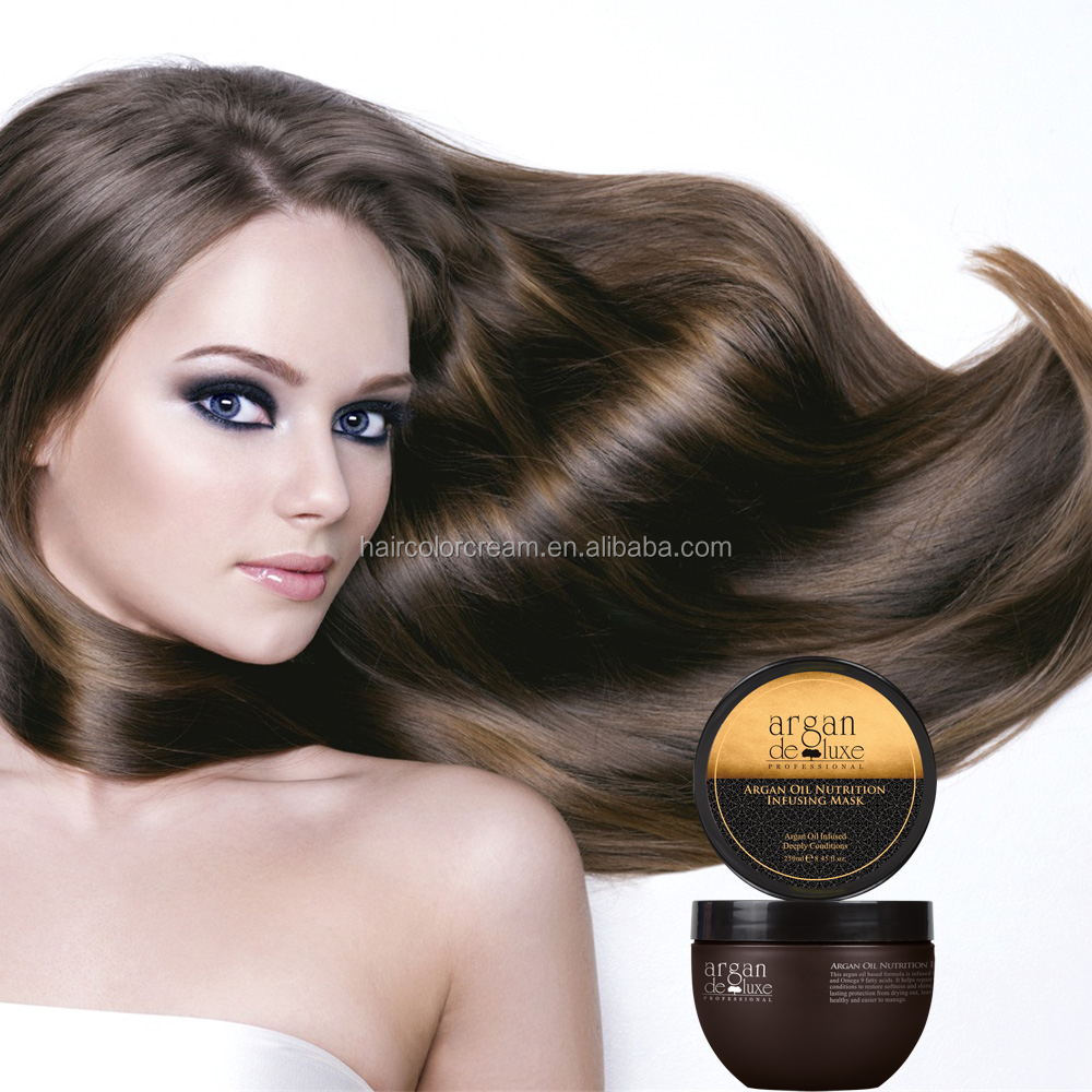Private label deep nutrition infusing argan oil hair mask, hot sell mud hair mask