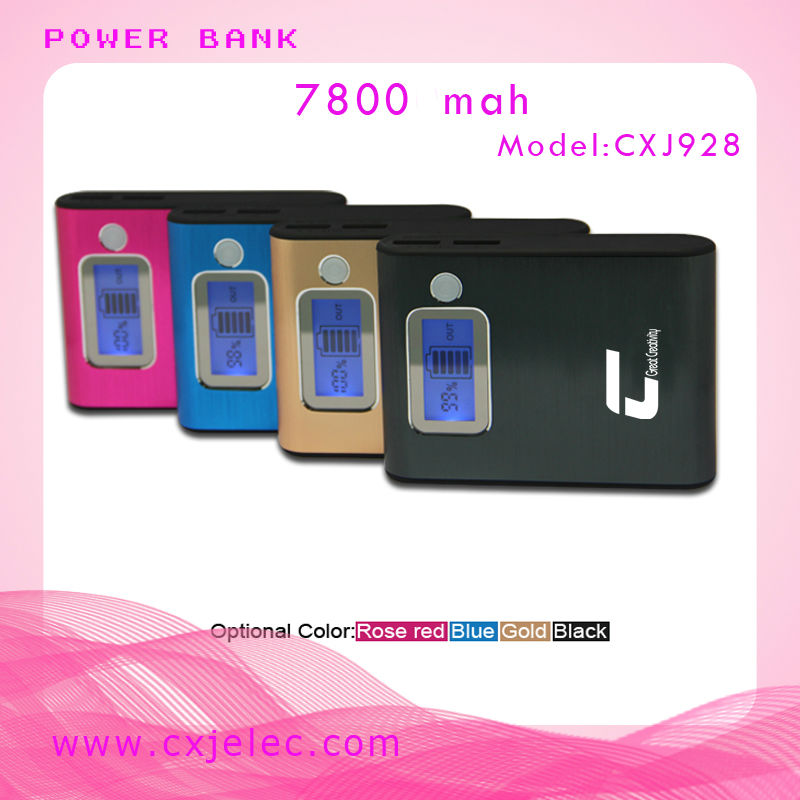 Dual USB Output 7800mAh Portable camera battery Charger