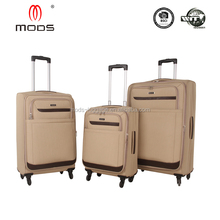 High quality polyester four wheels simple carry-on travel luggage bag