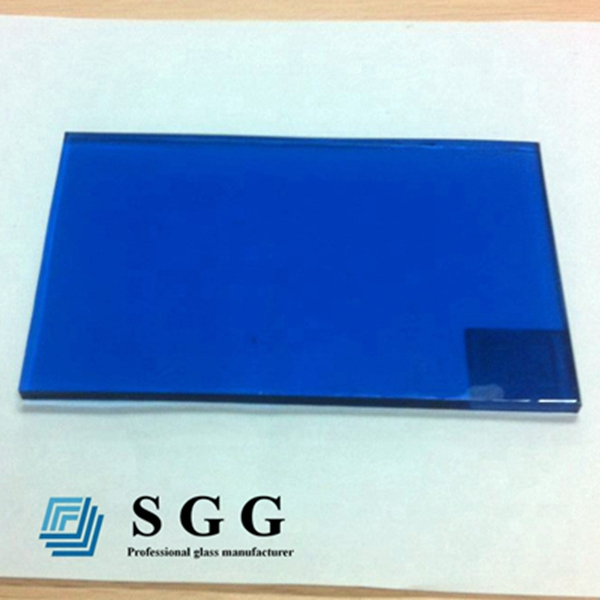Top quality Flat Toughened Safety Glass Dark Blue Tempered Glass Panel price 4mm 5mm 6mm 8mm 10mm 12mm