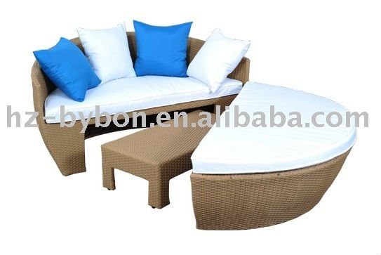 Resin Wicker Outdoor Day Bed Sofa Set
