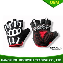 cycle high quality half finger skull cycling Riding driving sports glovesskeleton style half fingers gloves