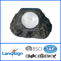 good price XLTD-500 bright led solar garden stone rock solar spot light